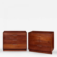George Nakashima - Pair of American Black Walnut Chests by George Nakashima | InCollect