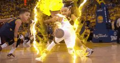 Stephen Curry turning Super Saiyan in the 4th…