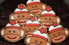 Sweet Handmade Cookies - sock monkey cookies.