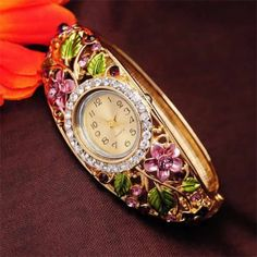 Chinese Movement Women #Wrist #Watch, with #Rhinestone, So Nice Design.