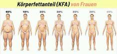 Der Körperfettanteil – abgekürzt KFA – ist ein sehr wichtiger Wert, wenn du gesünder sein und/oder besser aussehen willst. Der KFA sagt aus, wieviel % deines Körpergewichts aus Fett besteht.Beispiele: Wiegst du 60 kg und 18 kg davon sind Fett, hast du einen KFA von 30%. Wiegst du 50 kg und 10 kg davon sind