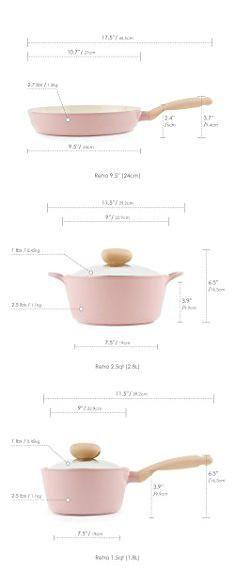 """Rare PINK Masterclass Nonstick 9.5"""" Casserole Premium Cookware   NEW Pan"""