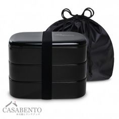 Midnight Bento Lunch Box: Discover the Midnight Black Bento Box, the latest bento design from CasaBento. Worldwide shipping and fast delivery. Bento Box Traditional, Japanese Lunch Box, Lunch To Go, Bento Box Lunch, Box Design, Modern, Yandere Simulator, Zero Waste, Monochrome