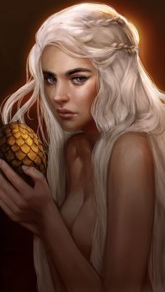 Daenerys Targaryen by Regochan  Strong colours and lighting as well as confident lines