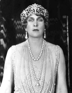 Queen Ena of Spain wearing the Fleur de Lys tiara. She wore the tiara throughout her life and never lent it to either of her daughters.