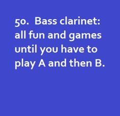 Only clarinet players will get it! This happened with this weeks chair test and it got first chair!
