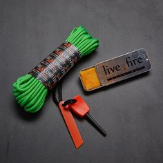 "Ring O Fire // Safety Green The Ring O Fire is made from 550 FireCord, which is the next evolution in outdoor gear preparedness. 550 parachute cord, or ""paracord,"" has been the standard go..."
