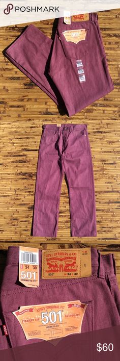 96a752562919 Levi's 501 shrink to Fit Denim Jeans Men's 34x30 Levi's 501 shrink to Fit Denim  Jeans