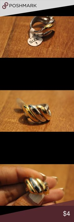 Gold/ Silver ring Gold/Silver twist ring stainless steel Jewelry Rings