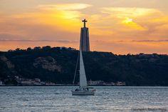 Cristo Rei, Sunset, Lisboa, Portugal by Tanzeus, via Flickr