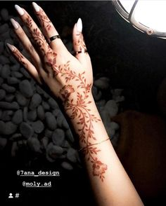 Indian Henna Designs, Latest Arabic Mehndi Designs, Floral Henna Designs, Finger Henna Designs, Modern Mehndi Designs, Henna Designs Easy, Beautiful Henna Designs, Mehndi Designs For Hands, Bridal Mehndi Designs