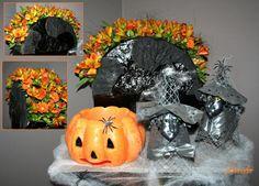 Halloween vieren - bloemschikken met oranje kleuren om sfeer te maken in de huiskamer met pompoenen en bloemstukjes