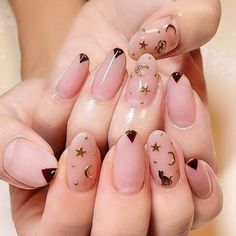 cat celestial nails aesthetic #Manicures