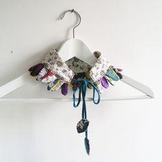 De plumas: collar necklace - collier - Repurposed.