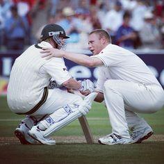 #ClassicAshesMoments #9: Flintoff consoles Lee at Edgbaston #Ashes #Cricket