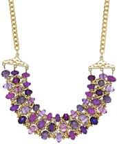 Style & Co. Gold-Tone Purple Beaded Drama Necklace, Only at Macy's