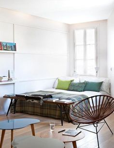Small, Oddly-Shaped Paris Pad Lives Large with Efficient Walls | 300-square-foot apartment | architect: Aurélien Lespinas