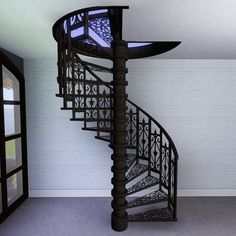 Delicieux Iron Spiral Staircase By Pocci