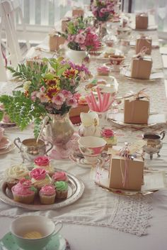 Beautiful high tea setting and I love the musk sticks idea & Rosehip Sussex vintage tea parties | Gallery \u2026 | Pinteres\u2026