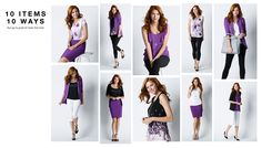 10 items 10 ways - Purple