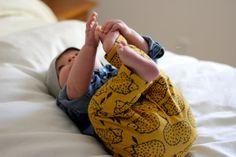 Organic baby leggings Hedgehog leggings gender by littleandbrave