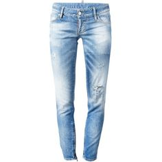DSQUARED2 Faded Skinny Jean (810 BRL) ❤ liked on Polyvore featuring jeans, pants, bottoms, pantalones, denim, dsquared2, skinny jeans, frayed jeans, cut skinny jeans and faded jeans