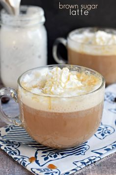 Enjoy homemade coffeehouse drinks at home! This Brown Sugar Latte is not only delicious, but it's easy to make too! #dairyfuel @adamideast