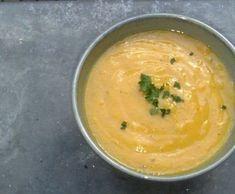 Soupe de carotte parfumée : la recette facile Vinaigrette, Thai Red Curry, Food And Drink, Gluten, Diet, Fruit, Cooking, Ethnic Recipes, Justine