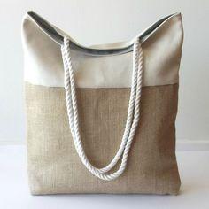 bolsos de playa de arpillera - Buscar con Google