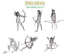 Lotr+Elf+Archer+Action+Poses+2+by+halrod.deviantart.com+on+@deviantART