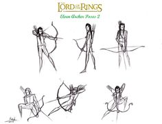 Lotr+Elf+Archer+Action+Poses+2+by+halrod.deviantart.com+on+@deviantART