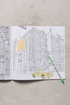 Fantastic Cities Coloring Book - anthropologie.com | Pinned by topista.com