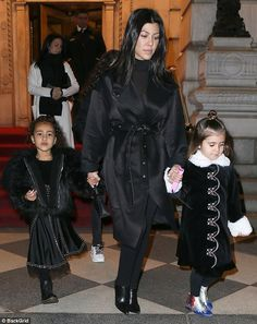 Girls only! On Saturday night North West and Penelope Disick stepped out in their own stylish ensembles for a night on the town in New York City with Kourtney Kardashian