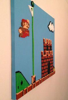 Mario Victory Perler Beads par ThePixelArtShop sur Etsy