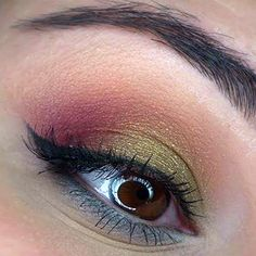 Heat up your everyday look with this fab eye makeup.