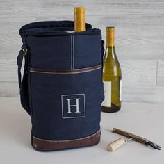 Personalized Navy Wine Bottle Cooler with Opener Personalized Wine Bottles, Personalized Gifts, Wedding Shower Gifts, Wedding Gifts, Bridal Shower, Wedding Ideas, Beer Bottle Opener, Bottle Openers, Wine Chiller