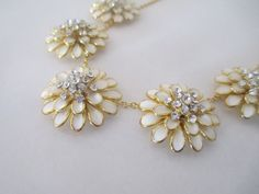 FREE SHIPPING Beautiful White flower by HollyChavezDesigns on Etsy