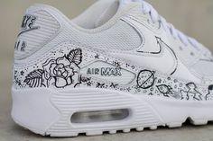 Nike Air max 90 cartoon custom shoes - New Ideas Air Max 90, Nike Air Max, Nike Cartoon, Cartoon Shoes, Air Force Shoes, Nike Air Force, Custom Painted Shoes, Custom Shoes, Sneaker Store