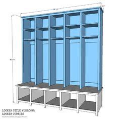 Building Plans for Mud Room Lockers | Valerie Custom Mudroom ...