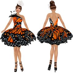 My Second Life as Amariah Francis: New Release! Monarch Butterfly Dress! Hand drawn textures!