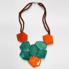 Mother of Pearl Necklace by Sylca Designs    (99+) Fab.com | Make-A-Statement Necklace