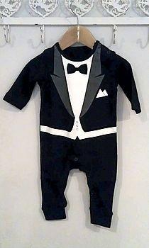 Tuxedo Babygrow