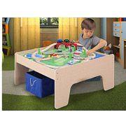 Walmart: Wooden Activity Table with 45-Piece Train Set & Storage Bin