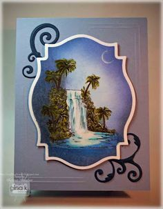http://craftingtheweb.blogspot.com/2012/07/peaceful-waterfall-tutorial.html