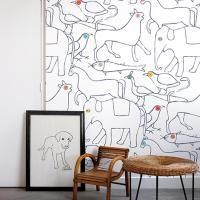 Cush and Nooks: Minakani Lab Wall Coverings-Bien fait animal wallpaper Unique Wallpaper, Kids Wallpaper, Animal Wallpaper, Custom Wallpaper, Wall Wallpaper, Wallpaper Ideas, Nursery Design, Baby Design, Nursery Decor