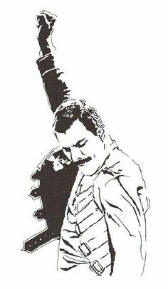 Freddie Mercury - Lead Singer of Queen - Original Illustration Tatouage Freddie Mercury, Freddie Mercury Tattoo, Queen Freddie Mercury, Freedy Mercury, Queen Lead Singer, Blake Et Mortimer, Queen Drawing, Rock Poster, Queens Wallpaper