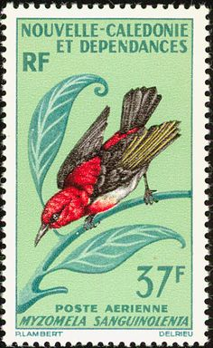 New Caledonian Myzomela stamps - mainly images - gallery format