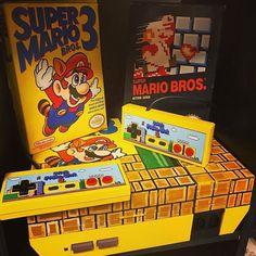 Super mario madness by @bih_retro_gaming. That's a pretty cool console makeover. What's your fav mario game? Mine is Mario Kart 64 for nostalgia purposes #oldskool #nostalgia #retrogames #retrogamer #retrocollective #nintendo #ninstagram #nintendofan #gamer #games #gaming #supermario #supermariobros #custom #customize #nintendogamer #mario #bowser #peach #toad #koopa #luigi #yoshi #wario #waluigi #boo #goomba #gamers
