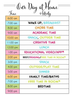 home school schedule daily routines Looking to make an at-home schedule for kids during quarantine Get tips for how to schedule your day, time management, daily routines, educational time for kids, and a list of online resources available. Daily Routine Chart For Kids, Daily Routine Schedule, Charts For Kids, Daily Routines, Daily Schedule Printable, Schedule Board, Morning Routine For Kids, Kids Schedule Chart, Cleaning Routines