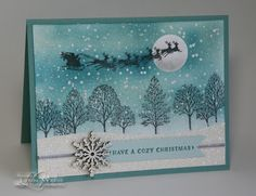 Stampin' Up! Cozy Christmas & Lovely As a Tree - LW Designs: Lovely Cozy Christmas
